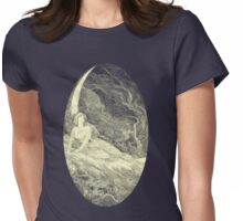 the moon. Womens Fitted T-Shirt