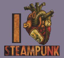 I Heart Steampunk Kids Tee
