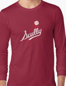 Vin Scully - Los Angeles Dodgers Style Logo Long Sleeve T-Shirt