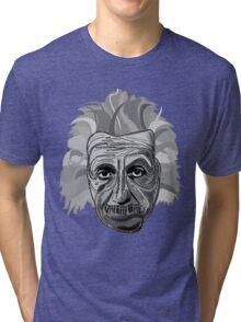 Einstein Quote Typography Tri-blend T-Shirt
