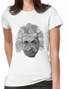 Einstein Quote Typography Womens Fitted T-Shirt