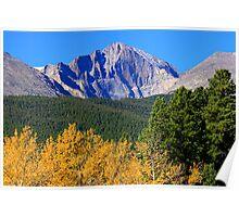 Longs Peak Autumn Aspen Landscape View Poster