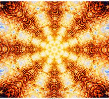 Undulating Tunnels of Molten Light - Abstract Fractal Art by Leah McNeir