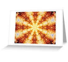 Undulating Tunnels of Molten Light - Abstract Fractal Art Greeting Card