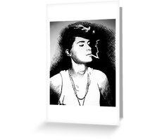 smoking girl Greeting Card