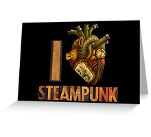 I Heart Steampunk Greeting Card