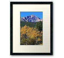 Autumn Aspens and Longs Peak Framed Print