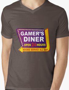 Gamers Diner Mens V-Neck T-Shirt