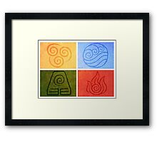 Avatar the Last Airbender - Elements Framed Print