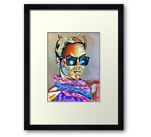 Bright pastel portrait Framed Print