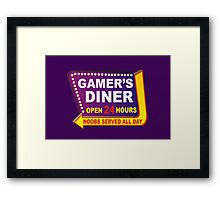 Gamers Diner Framed Print
