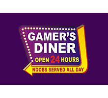Gamers Diner Photographic Print