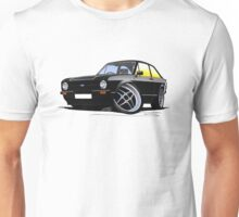 Ford Escort (Mk2) Mexico Black Unisex T-Shirt