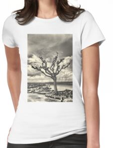 Lonely tree Womens Fitted T-Shirt