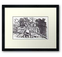 River Scene (Abstract) Framed Print