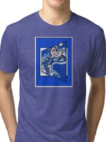blue boy runnin' Tri-blend T-Shirt