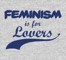 Feminism is for Lovers Indigo by rydrahuang