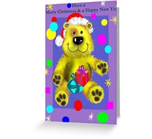 A Teddy Bear Christmas & New Year Greeting Card