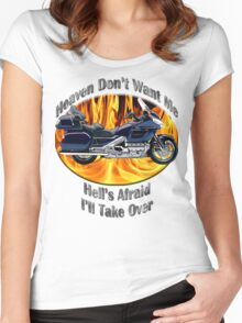 Honda Gold Wing Heaven Don't Want Me Women's Fitted Scoop T-Shirt