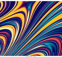 Color and Form - Curved Waves Flowing Lines . by Leah McNeir