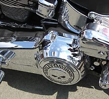 Harley, chrome, skull by Perggals© - Stacey Turner