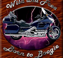 Honda Gold Wing Wild and Free by hotcarshirts