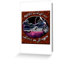 Honda Gold Wing Wild and Free Greeting Card
