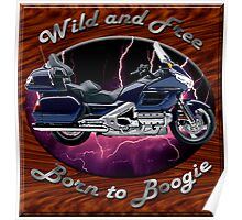 Honda Gold Wing Wild and Free Poster
