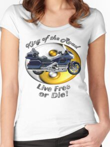 Honda Gold Wing King of the Road Women's Fitted Scoop T-Shirt