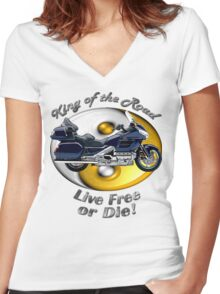Honda Gold Wing King of the Road Women's Fitted V-Neck T-Shirt
