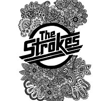 The Strokes Zentangle Logo by Artdanicabrera