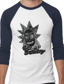 Get Schwifty Invert Men's Baseball ¾ T-Shirt