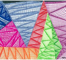 Big Colorful Triangles  by Mary Pat Nally