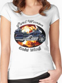 Honda Gold Wing Road Warrior Women's Fitted Scoop T-Shirt