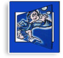blue boy runnin' (square) Canvas Print