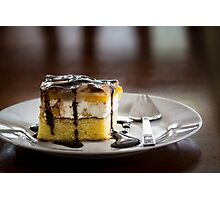 Peach-cheese cake Photographic Print