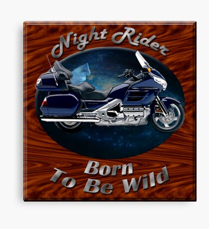 Honda Gold Wing Night Rider Canvas Print