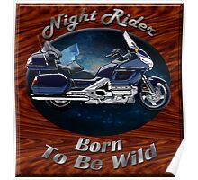 Honda Gold Wing Night Rider Poster