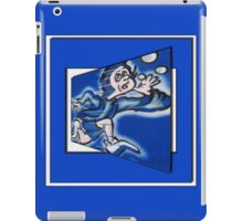 blue boy runnin' (square) iPad Case/Skin