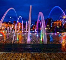 Barnsley Town Hall Fountains by Mark Dobson