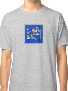 blue boy runnin' (square) (front) Classic T-Shirt