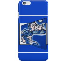blue boy runnin' (square) (front) iPhone Case/Skin