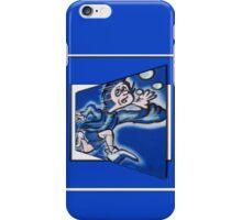 blue boy runnin' (square) (front) iPhone Case/Skin