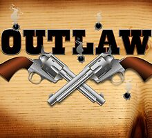Western outlaw background illustration by creativedesignz