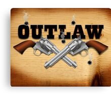 Western outlaw background illustration Canvas Print