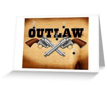 Western outlaw background illustration Greeting Card