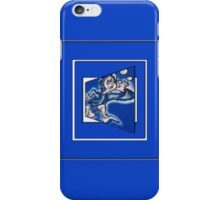 blue boy runnin' (sq full frame) iPhone Case/Skin