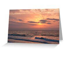 Beach Sunrise II, Ocean Isle Beach, NC Greeting Card