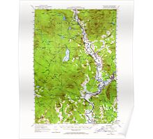USGS Topo Map  Vermont VT Guildhall 337957 1956 62500 Poster