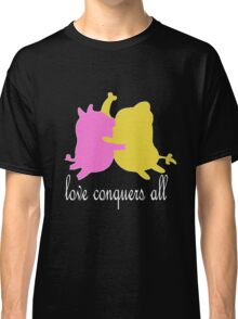love conquers all, mr pig and tree trunks Classic T-Shirt